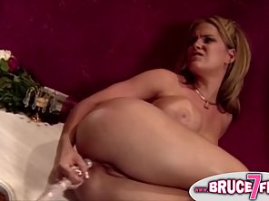 Round Boobs Lesbian Babes Enjoy In Dildo Drilling Their Pussies