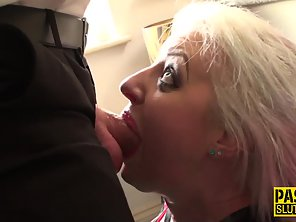 Tattooed Girl Takes Big Cock Of Her Guy In Pink Pussy