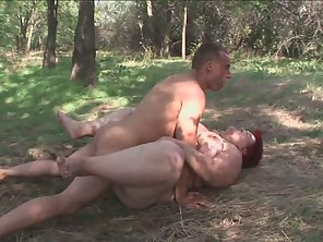 Fat Redhead Mature Gets Fucked In Forest