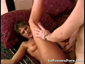 Brunette Mature Babe Got Fucked By Her Hubby On Couch