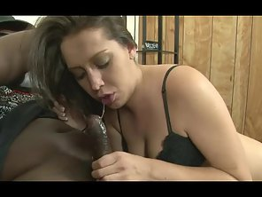 Big Boobs Babe Gives Blowjob To Her Guy's Big Cock
